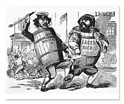 Anti-Irish Cartoon from Know Nothings Party in 1850s