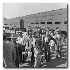 Mexican immigrants arriving through Bracero Program