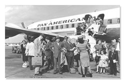 Cuban Immigrants Exiting Plane