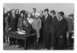 LBJ Signing Immigration and Nationality Act of 1965