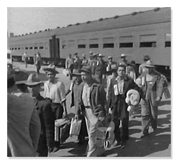 Mexican Nationals Being Deported During Operation Weback 1954