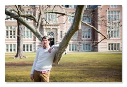 Student on Vassar campus